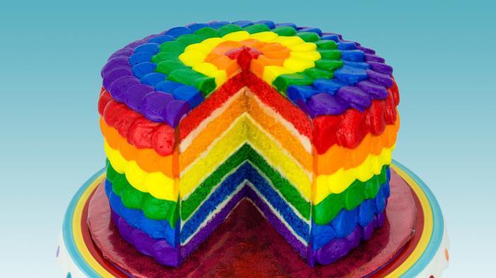 радужный торт. рецепт с фото