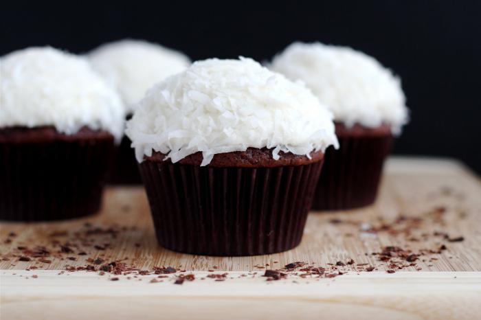 Рецепт шоколадных капкейков с начинкой