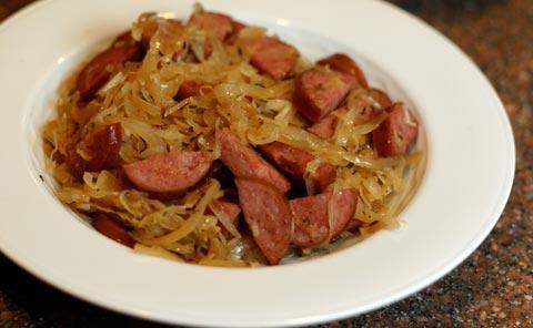 солянка с сосиской из свежей капусты рецепт