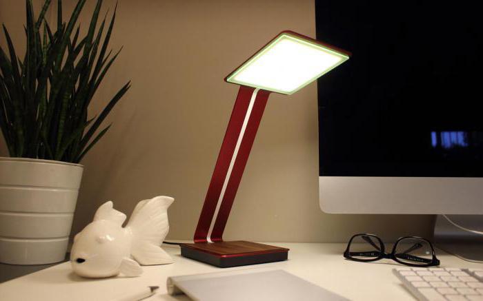 лампа настольная люминесцентная