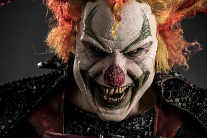 грим злого клоуна