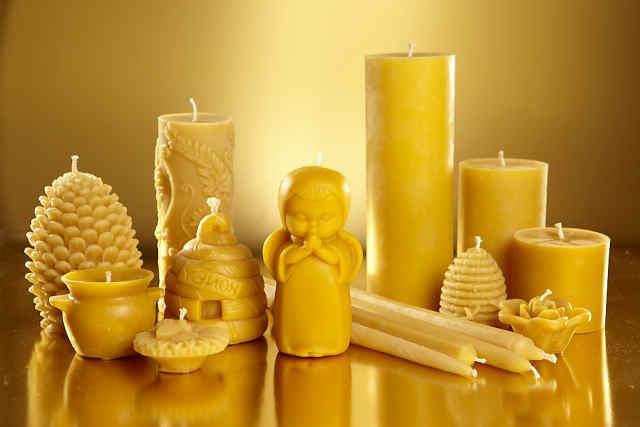 Как сделать восковую свечу