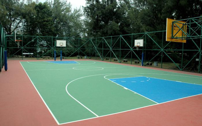 схема баскетбольной площадки