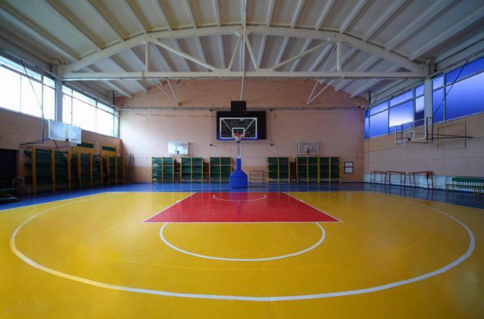 размеры баскетбольной площадки в школе