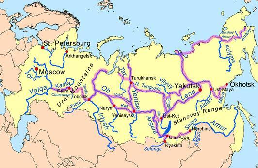устье реки енисей
