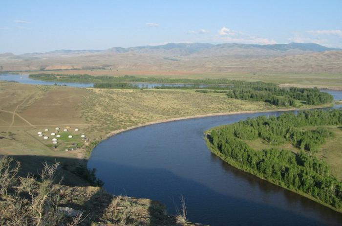 течение реки енисей