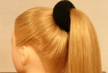 Как сделать бублик для волос своими руками