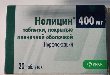 Нолицин при цистите - инструкция по применению