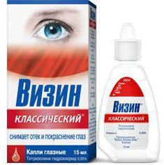 Сосудорасширяющие капли для глаз