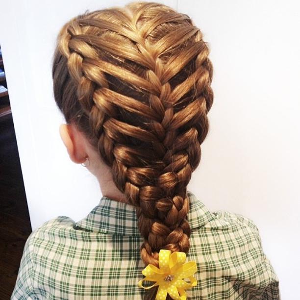 Плетение обратной косы схема фото