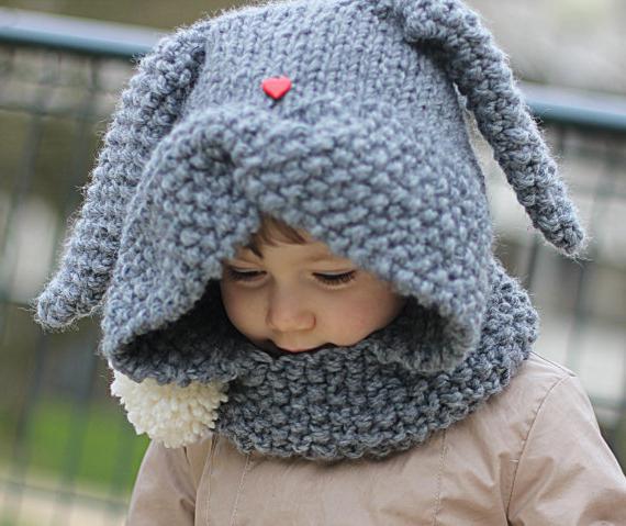 шапка с ушками спицами схема
