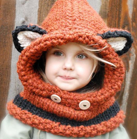 Вязание детской шапочки с ушек 91