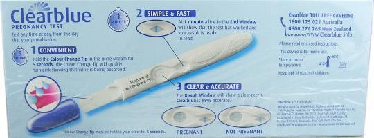 Clearblue струйный тест на беременность инструкция