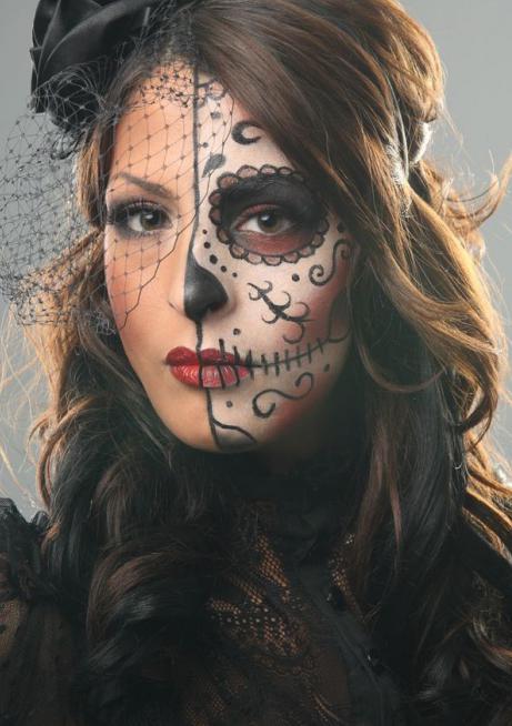 легкий макияж на хэллоуин своими руками