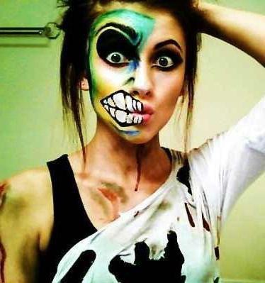легкий макияж на хэллоуин для девочки 12 лет