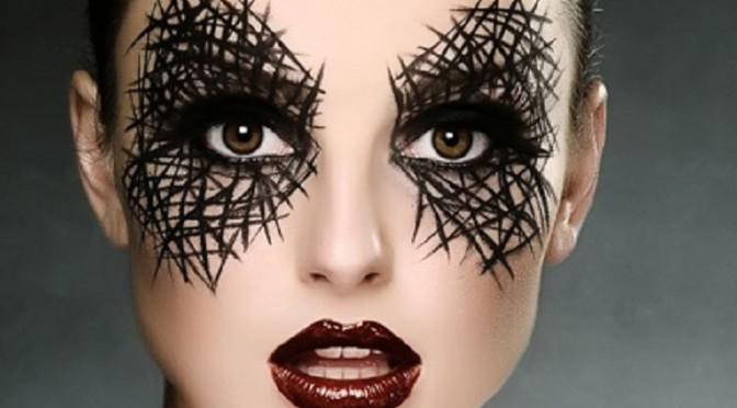 легкий макияж на хэллоуин фото