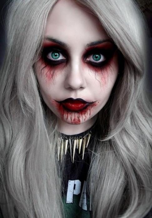 легкий макияж на хэллоуин в домашних условиях
