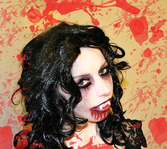 макияж на хэллоуин вампирша