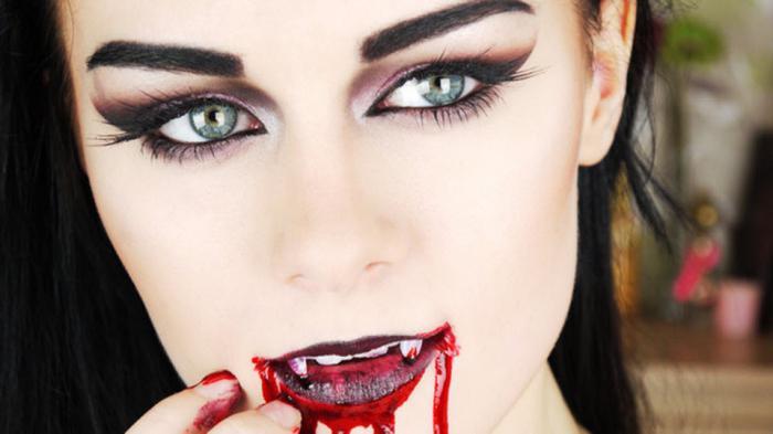 макияж вампирши в домашних условиях