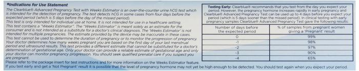 разные результаты теста на беременность