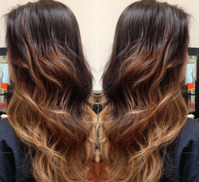балаяж на русые волосы фото в домашних условиях
