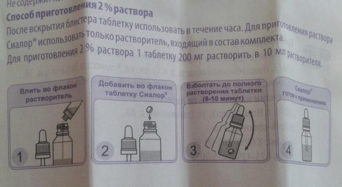 сиалор протаргол инструкция