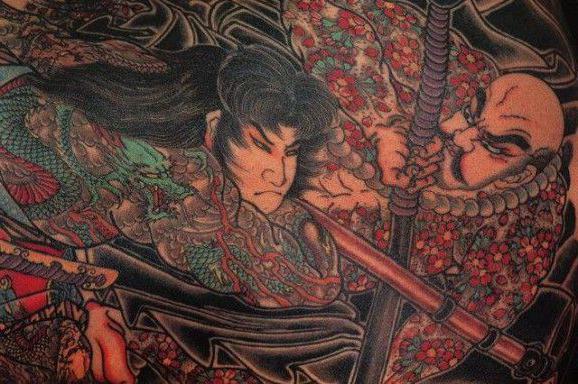 самурай эскизы тату