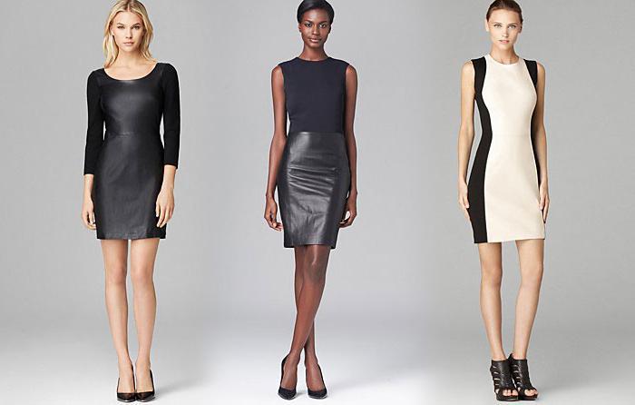 С чем носить платья с кожаными вставками