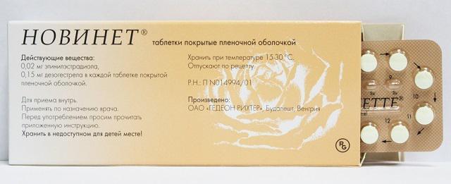 Противозачаточные таблетки Новинет отзывы врачей цена в