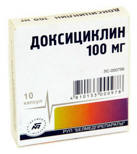 доксициклин таблетки инструкция и цена