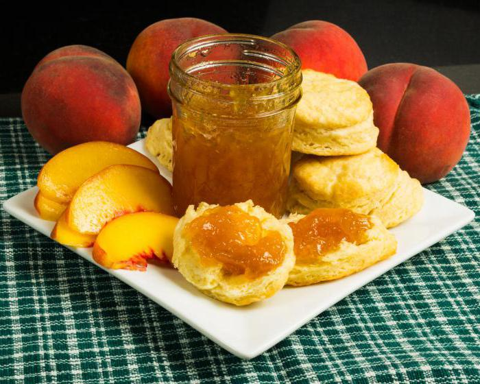 рецепт варенья из персиков дольками