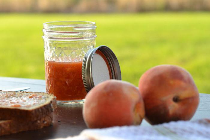 варенье из персиков дольками в сиропе