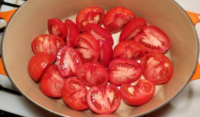 салат на зиму из свежих красных помидор