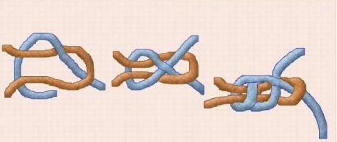 как сделать прямой узел