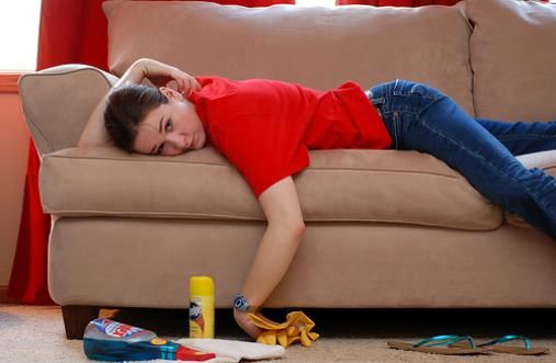 how to clean tape from the sofa