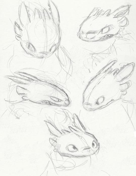 как нарисовать беззубика карандашом поэтапно
