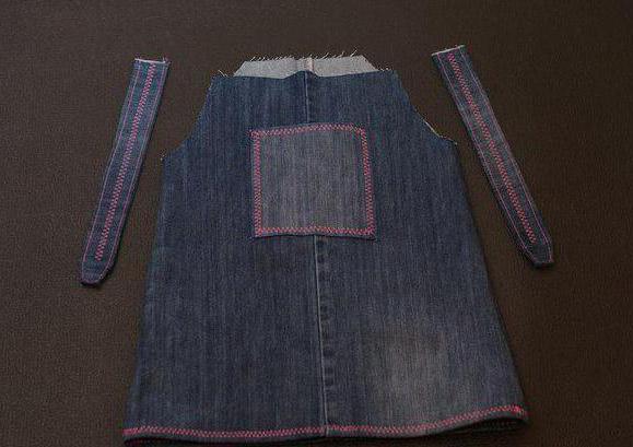 выкройки детских джинсовых сарафанов