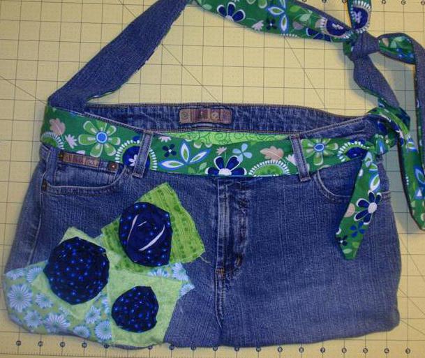 Выкройки для сумок из джинсов
