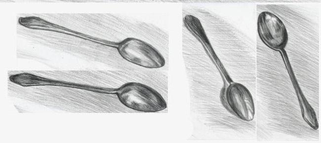 How to draw a spoon? Step by step instructions