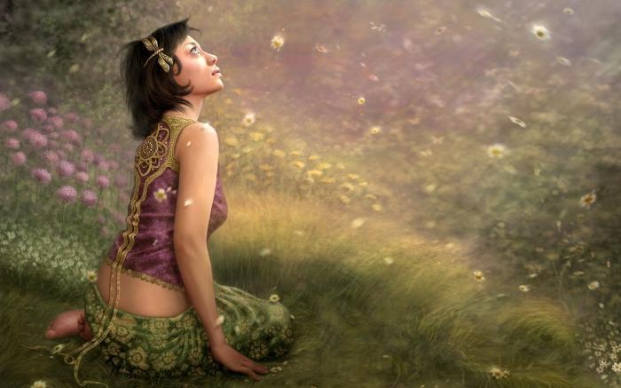 """Вышивка крестом.  190x143 крестов * 70 цветов * Теги: девушка, портрет, фэнтези.  Оригинал.  Схемы автора  """"alenka """"."""