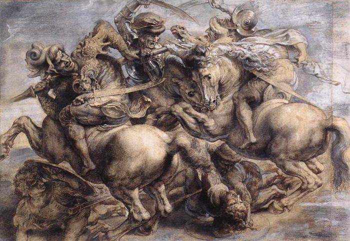 """Battle of Anghiari"" – unfinished work of Leonardo da Vinci"