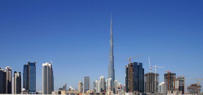 самые высокие здания в дубае
