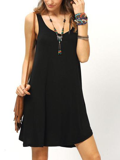 выкройка классического черного платья