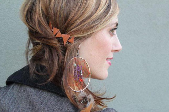 прически с крабиком на длинные волосы фото