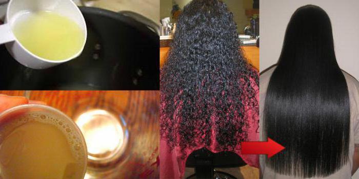 Рецепты масок для выпрямления волос