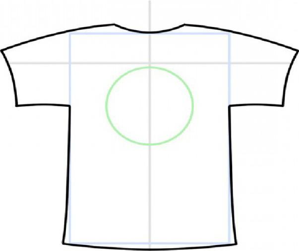 как нарисовать футболку поэтапно