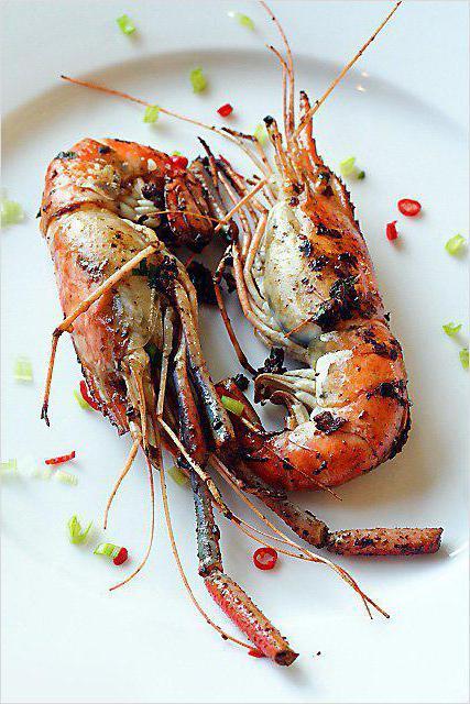 жареные креветки в панцире с чесноком в соевом соусе рецепт с фото
