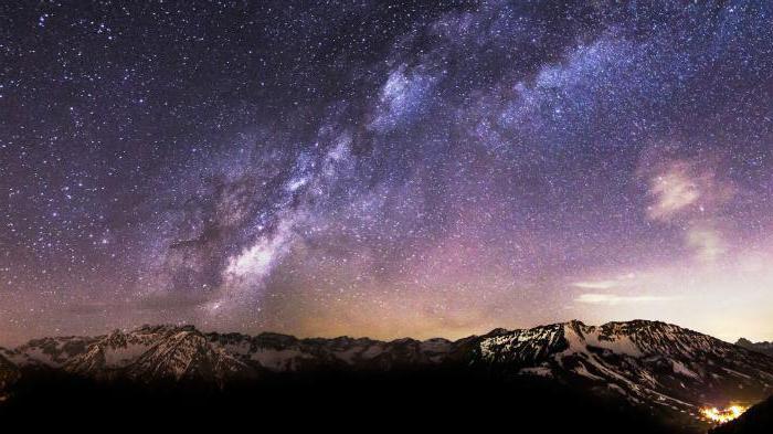 цвет млечный путь космос