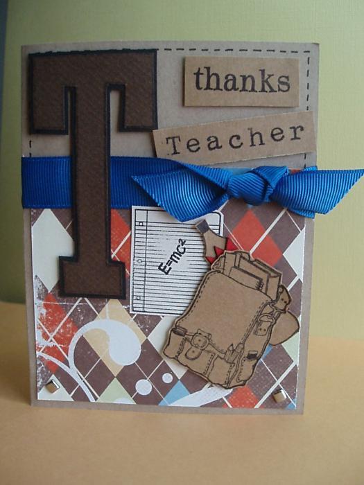 поздравительная открытка с днем учителя своими руками