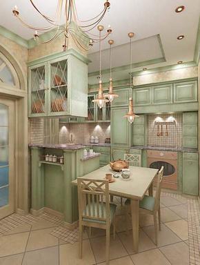 Интерьер кухни частного дома фото